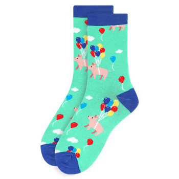 Women's Pig Novelty Socks - LNVS19545-TL