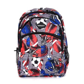 Football & Soccer Pattern Novelty Backpack-NVBP-46