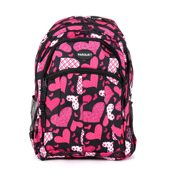 Pink Heart Pattern Novelty Backpack-NVBP-34