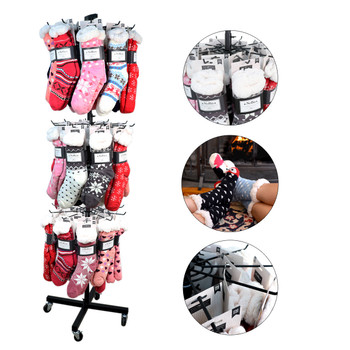 Winter Sherpa Socks Display Rack (90 Sherpa Socks Included) - ST-HTR1-WFLS