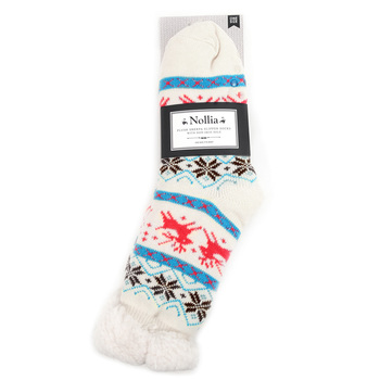 Women's Plush Sherpa Winter Fleece Lining Christmas Slipper Socks - WFLS1003