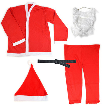 5 Pieces Santa Claus Adult Suit Set Costume - XSCA5118