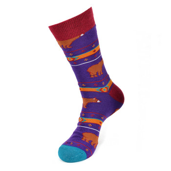 Men's Brown Bear Fun Novelty Socks  - NVS19432