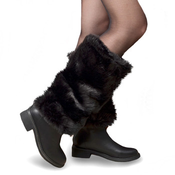 Faux Fur Winter Leg Warmers - FLW1004-BK