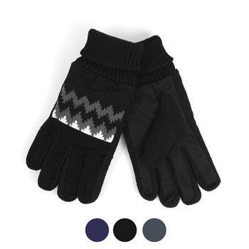 Men's Genuine Leather Non-Slip Grip Winter Gloves with Soft Acrylic Lining MWG02