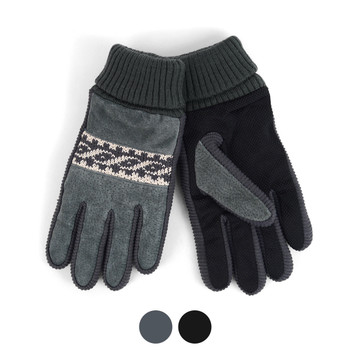 Men's Genuine Leather Non-Slip Grip Winter Gloves with Soft Acrylic Lining MWG03