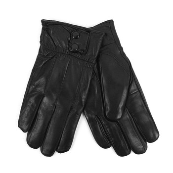 Men's Genuine Leather Winter Gloves with Soft Acrylic Lining MWG04
