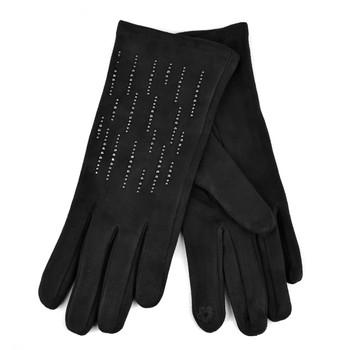 Women's Rhinestone Studded Winter Gloves - LWG34