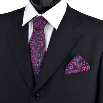 Paisley & Solid Tie with Matching Hanky Box Set - THX12-FA-1