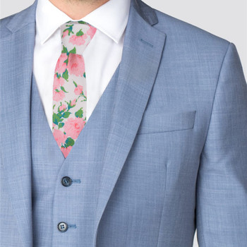 "2.25"" Floral Cotton Slim Tie - NVC-FLORAL3"