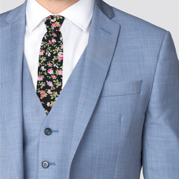 "2.25"" Floral Cotton Slim Tie - NVC-FLORAL10"