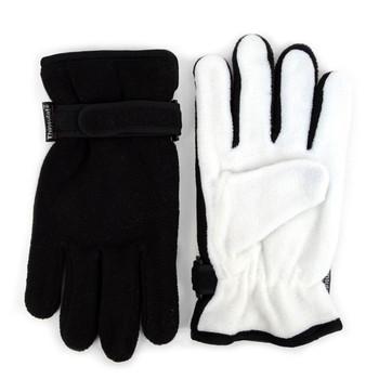 PrePack Men's Fleece Winter Black Gloves - ZM4-Pack