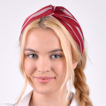 12pc Assorted Ladies Criss Cross Red Summer Headbands - 12EHB1004-RD