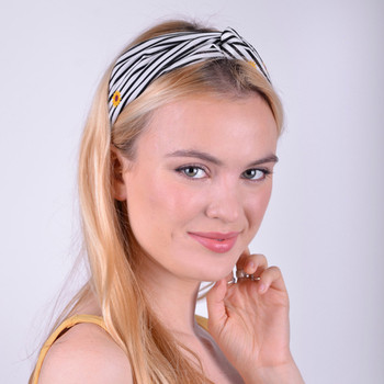 12pc Assorted Ladies Criss Cross Novelty Summer Headbands - 12EHB1006-NVT