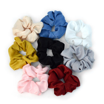 12pc Solid Scrunchy Hair Ties - 12SHS-SLD