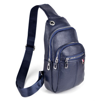 PU Leather Navy Crossbody Sling Bag - FBG1832-NV