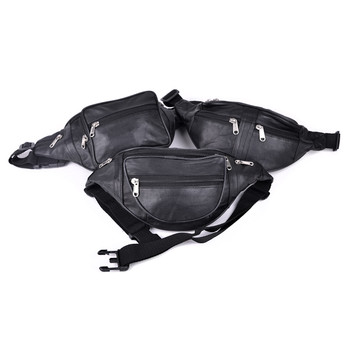 Assorted 100% Genuine Goatskin Leather Fanny Pack Waist Bag
