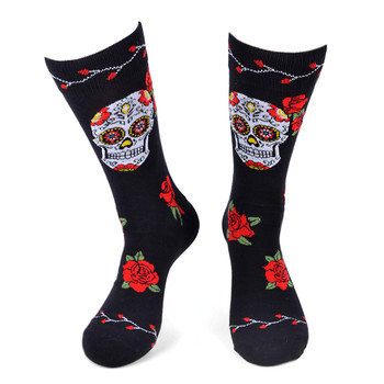 Men's Sugar Skull Novelty Socks - NVS19569-BK