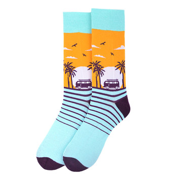 Men's Tropical Sunset Novelty Socks - NVS19551