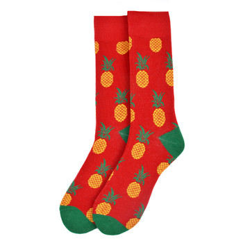 Men's Pineapple Novelty Socks - NVS19545-HPK