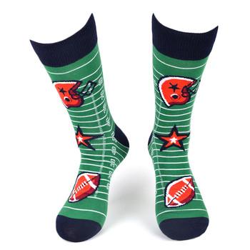 Men's Football Novelty Socks - NVS19575-GRN