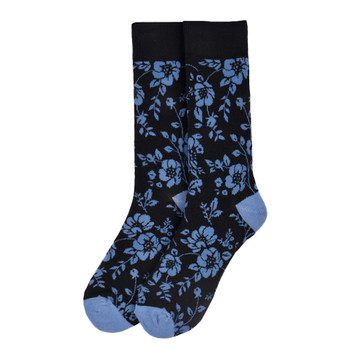 Men's Floral Novelty Socks - NVS19556-BK