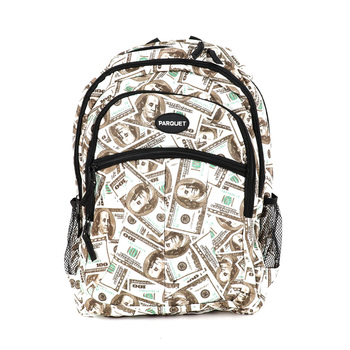 $100 Bill Pattern Novelty Backpack-NVBP-04