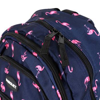 Flamingo Navy Novelty Backpack-NVBP-14