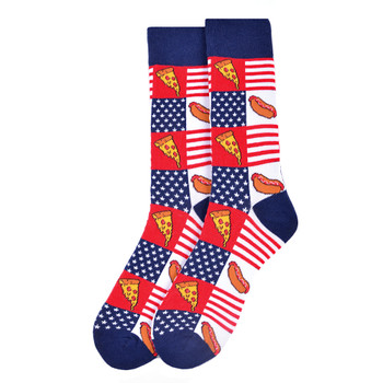 Men's Hot Dog & Pizza Novelty Socks - NVS19564