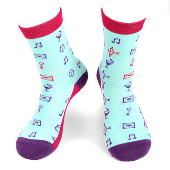 Women's Love Symbols Novelty Socks - LNVS19425-MT