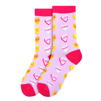 Women's Candy Emoji Hearts Novelty Socks