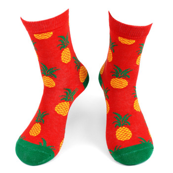 Women's Pineapple Novelty Socks - LNVS19415-HPK