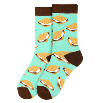 Women's S'mores Novelty Socks - LNVS19420-TQ