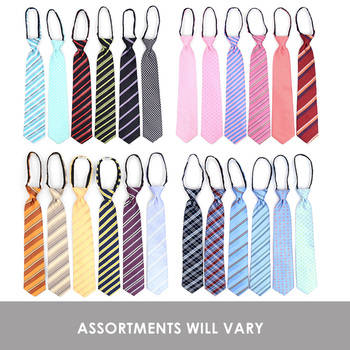24pc Assorted Microfiber Poly Woven Zipper Ties - MPWZ/ASST