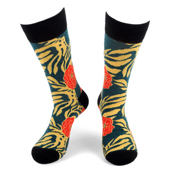 Men's Tropical Flower Novelty Socks - NVS19559-TL