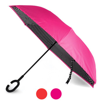 Double Layer Polka Dot Inverted Umbrella - UM5022-P
