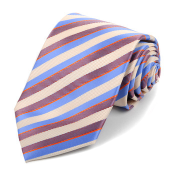 Microfiber Poly Woven Stiped Tie - MPW593