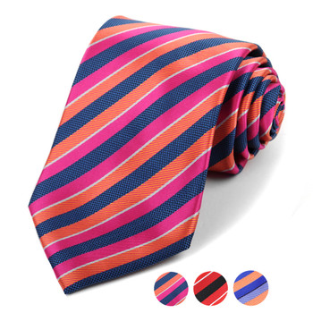 Microfiber Poly Woven Striped Tie - MPW5922