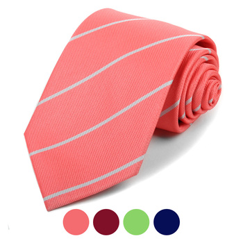 Microfiber Poly Woven Striped Tie - MPW5931