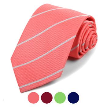 Microfiber Poly Woven Striped Tie - MPW5931