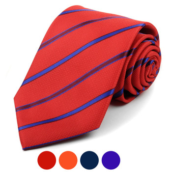 Microfiber Poly Woven Striped Tie - MPW5943