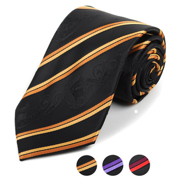 Microfiber Poly Woven Striped Tie - MPW5924