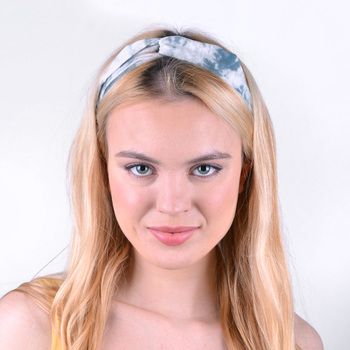 12pc Assorted Ladies Criss Cross Tie Dye Headbands - 12EHB1016