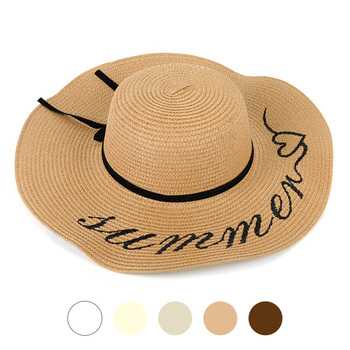 "Women's Wide Brim Floppy ""Summer""Hat - LFH180501-1"