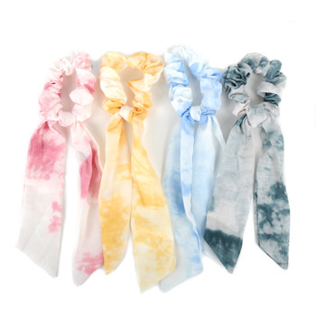 12pc Tie-Dye Scrunchie Ribbon Hair Tie - 12SRT-TD