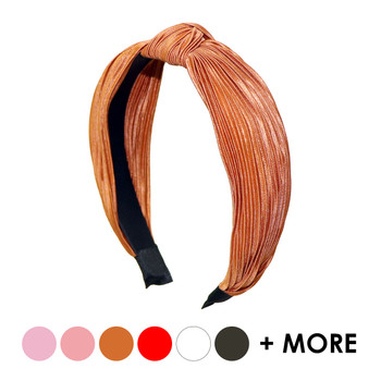 "Pleated Solid ""C"" Shaped Head Band - PHB1004"