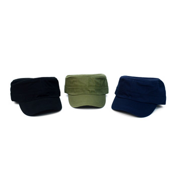 12pc Cotton Solid Cadet Hat- CHT1090