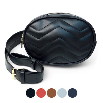 Ladies Oval Quilted Crossbody Bag - LFBG1305