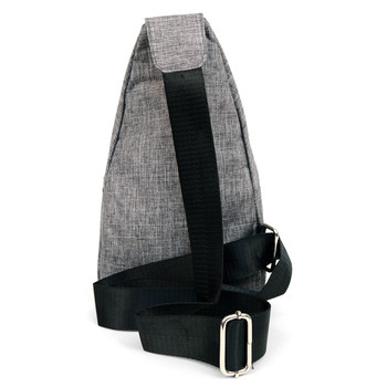 Gray Polyester Crossbody Sling Bag - FBG1826