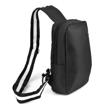 Black Crossbody Shoulder  Sling Bag  with USB Charging Port- FBG1845